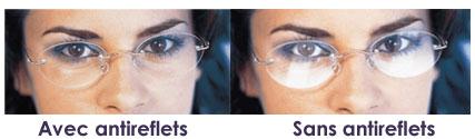 produits verres anti-reflets